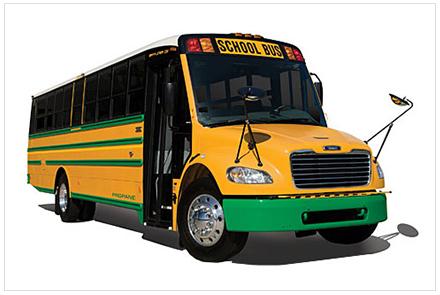 Thomas C2 cng School Bus - buswest